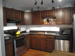 Stain Kitchen Cabinets Darker Staining Kitchen Cabinets Before And After Glass Door With Oak