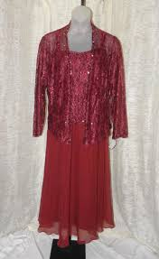 roaman u0027s burgundy beaded sequin lace jacket maxi dress polyester