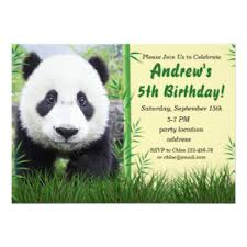panda invitations u0026 announcements zazzle co uk