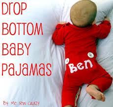drop bottom baby pajamas diy the sewing rabbit