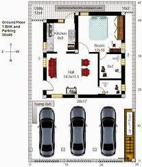 North Facing Floor Plans My Little Indian Villa 51 R44 1bhk And 2bhk In 30x45 North