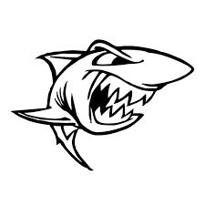 film kartun ikan hiu 15 3 11cm angry fish the shark animal stickers vinyl creative