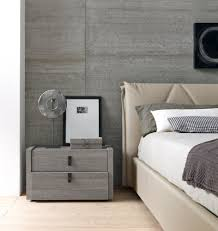 grey stained wall and side table bedroom just decorate