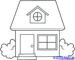 house to draw gallery draw a simple house drawings art gallery
