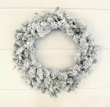 easy diy flocked wreath lovely etc