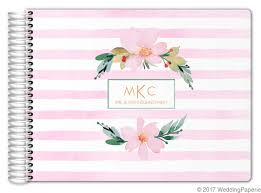 monogrammed wedding guest book floral watercolor monogram wedding guest book 11x8 5 wedding