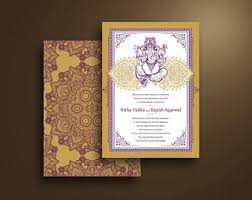 Wedding Invitation Hindu Ganesh Purple Ganesh