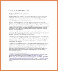 employment confidentiality agreement template sample non