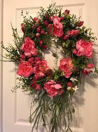 door wreath decorative wreath spring wreath valentines day