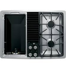 Ge 30 Inch Gas Cooktop Ge Profile Series Built In Downdraft Gas Modular Cooktop