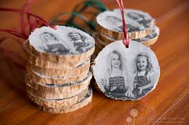 diy wooden photo ornaments simply real