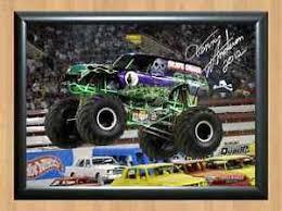 grave digger monster truck poster grave digger dennis anderson monster jam truck signed autograph a4
