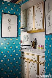 small kitchen apartment ideas with vintage and retro effect