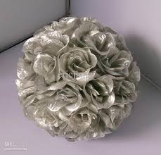 silver flowers 2016 silver color silk flower artificial silk