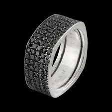 all diamond ring square all black diamond band black diamond rings rings