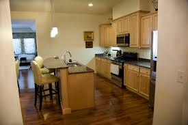 Kitchen Ideas Light Cabinets Ivy Quad Galley Kitchen Maple Cabinets With Natural Finish