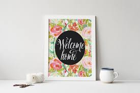 Inspirational Quotes Home Decor Printable Art Welcome Home Typography Art Print Be