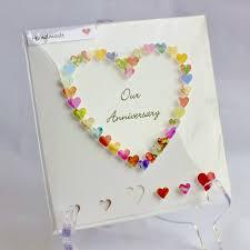10 year anniversary card message handmade 3d anniversary card our anniversary on your
