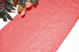 Sequin Table Runner Wholesale Coral Sequin Table Runners Wholesale