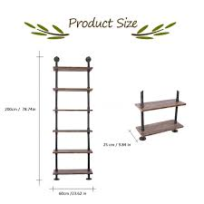 standing wall shelves diy ladder bookcase storage floating shelf