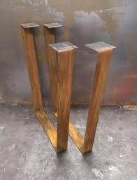 Flat Bar Table Legs Metal Table Legs Flat Bar Rusted Finish By Steelimpression On Etsy