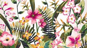 flowers leaves spring summer watercolor garden painted flowers