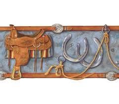 boys western ranch wallpaper border gu92161b cowboy boot blue