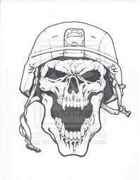 20 army skull designs