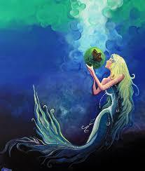Mermaid Home Decor Mermaid Paintings Mermaids Fantasy Art Canvas Prints Mermaid