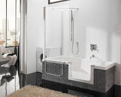 modern small bathtubs with shower washing machine fur rug living
