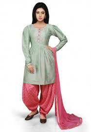 Buy Green Plain Cotton Silk Green Punjabi Suits Salwar Suits Buy Latest Salwar Kameez
