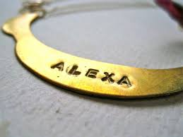 necklaces that say your name say your name with foamy wader s custom engraved vintage brass