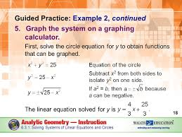 guided practice example 2 continued 5 graph the system on a graphing calculator