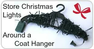 how to store christmas lights how to store christmas lights around a coat hanger healthpositiveinfo