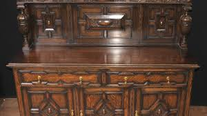 Curved Sideboard Cabinet Victorian Sideboard Buffet Exquisite Antique Sideboard