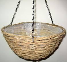 rattan hanging basket hanging flower basket hanging planter basket