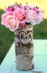 Birch Bark Vases Morgann Hill Designs Personalized Tall Straight Birch Bark Wood