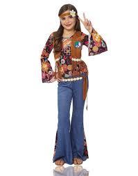 Halloween Costumes 70s Peace Girls Hippie 70s Flower Child Halloween Costume Ebay