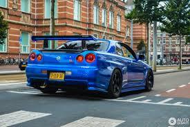 blue nissan skyline nissan skyline r34 gt r v spec 9 liepos 2016 autogespot