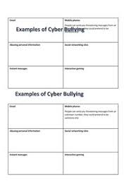 cyber bullying and stop the bully board games anti bullying