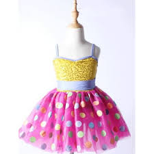 yellow with pink polka dots yellow gold sequins pink polka dot patchwork strap backless girls