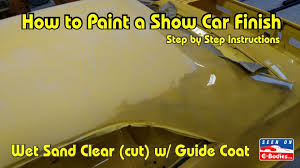 to paint your own show car u2013 e bodies