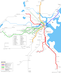 Green Line Metro Map by Urbanrail Net U003e North Amercia U003e Usa U003e Massachussetts U003e Boston T