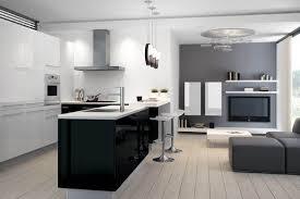 cuisines ouvertes sur salon idee amenagement salon cuisine americaine rayonnage cantilever