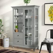 glass shelves for china cabinet laurel foundry modern farmhouse lefevre glass shelf curio cabinet