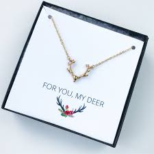 necklace gift boxes images Antler necklace gift box the glittered gal jpg