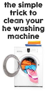 how to clean your he washing machine
