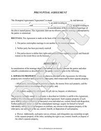prenup form w prenuptial agreement sample template