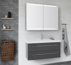 nice and nordic grey colour combined with a spacious mirror