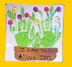 mothers day gift and other handprint ideas perfect for dish towel